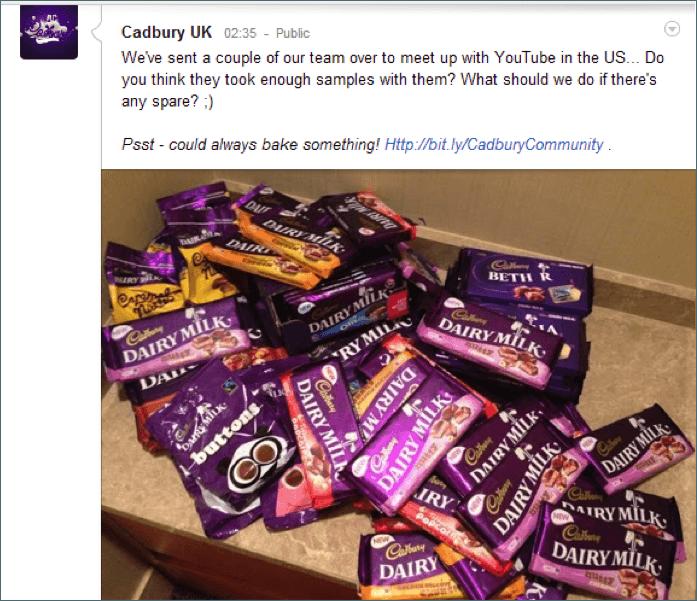 Cadburys Crave Worthy Pile of Candy Cadbury's Crave Worthy Pile of Candy Keeps It Real