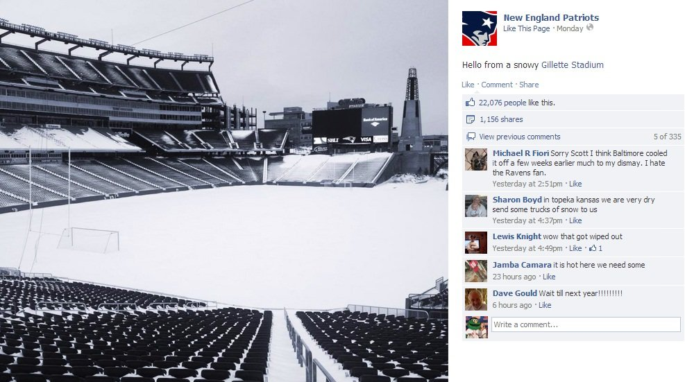 NE Patriots3 The Boston Red Sox and New England Patriots Spark a Snowstorm of Engagement
