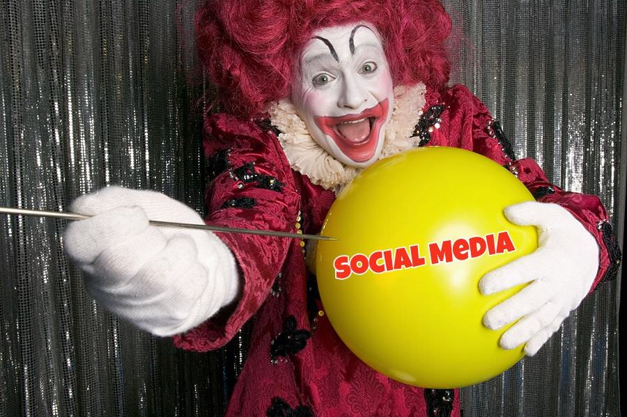 bigstock Clown about to pop a balloon 17521505 1 3 Ways to Survive the Coming Social Bust