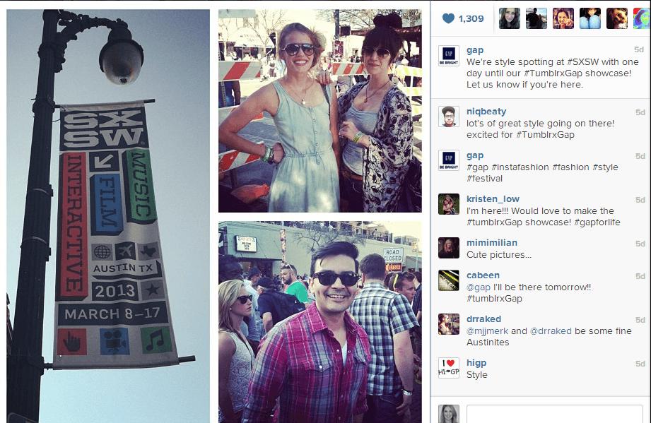 Gap Instagram1 How Gap Activated Its SXSW Presence