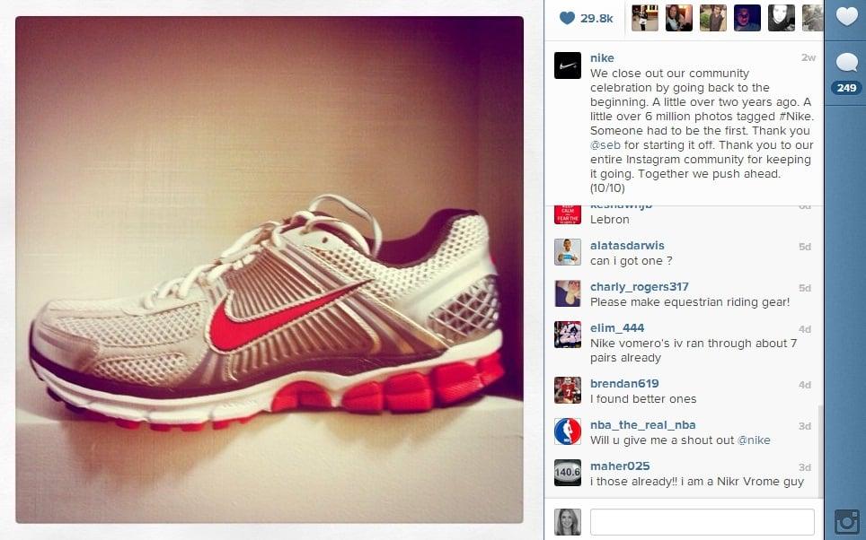 Nike1 Nike Celebrates Instagram Milestones by Thanking Its Community
