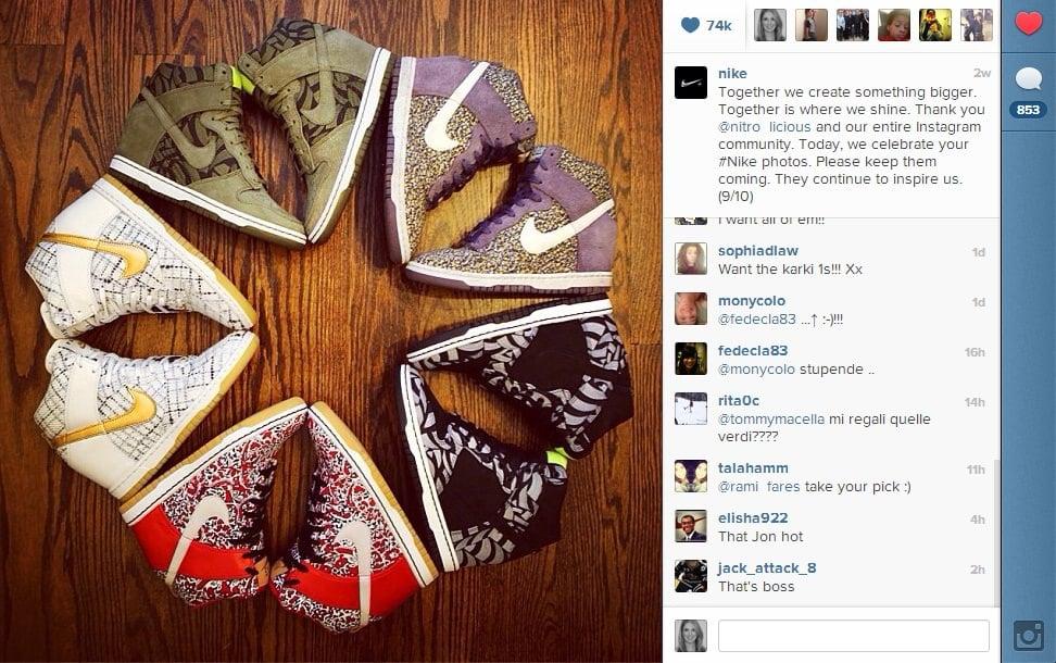 Nike3 Nike Celebrates Instagram Milestones by Thanking Its Community