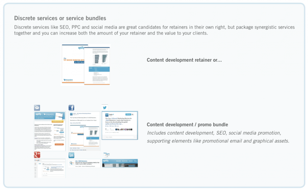 Optify Discrete Services vs. Services Bundle 1024x632 6 Steps to Win More Retainer Based Business