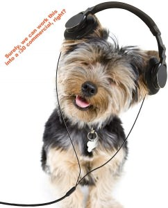 bigstock Adorable yorkie listening to m 15695018 242x300 Your Customers Dont Want the Science of Silly