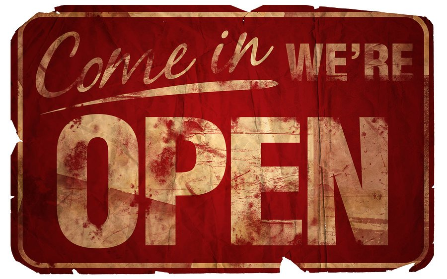 bigstock Aged Come In We re Open 157115 The Rise of Open Business