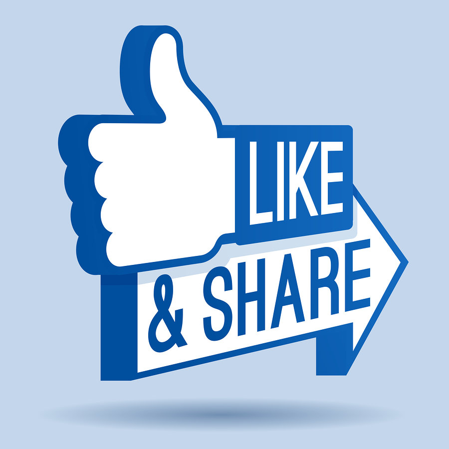 bigstock Like and Share Thumbs Up 44490382 7 Reasons Your Facebook Page is a Hot Mess