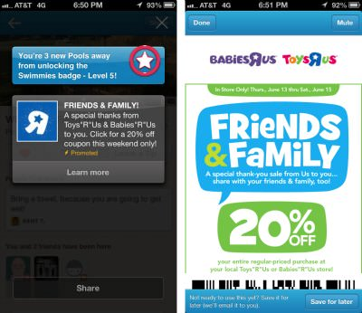Foursquare ads.jpg Can Ads Actually Make Foursquare Better