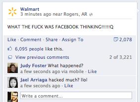 Walmart Facebook Oops