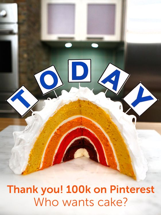 TODAY Cake The TODAY Show Celebrates 100K Followers on Pinterest