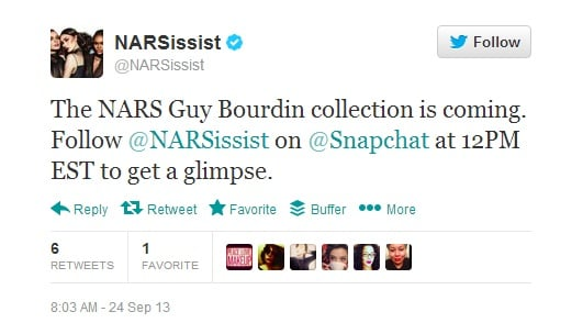 NARS2 NARS Uses Snapchat to Release Preview of New Collection