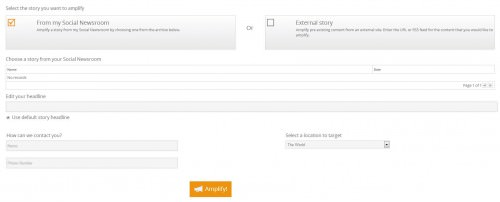 The Cision content amplification dashboard