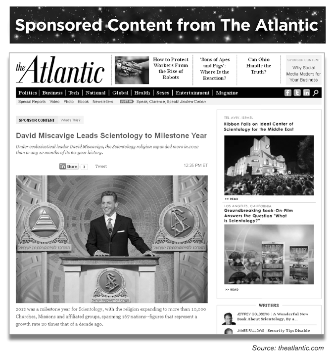 Scientology in the Atlantic