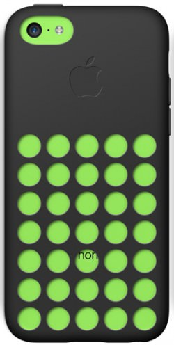 Whoops! Apple's own cases cover up the logo on the 5c.