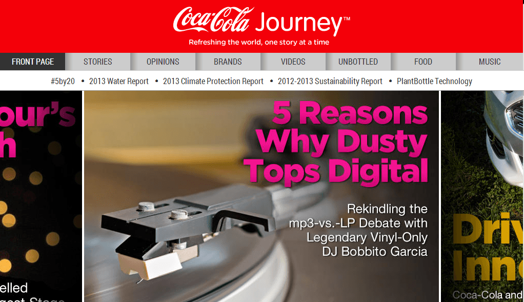 Coca Cola Coca Cola's New Corporate Website Aims to Refresh the World Through Storytelling