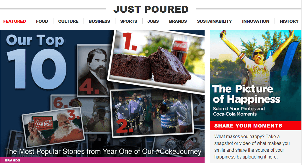 Coca Cola2 Coca Cola's New Corporate Website Aims to Refresh the World Through Storytelling