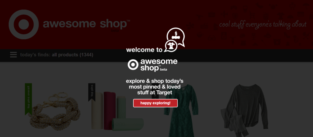 TargetAwesomeShop1 1024x450 Target Dabbles in Curated eCommerce with Awesome Shop