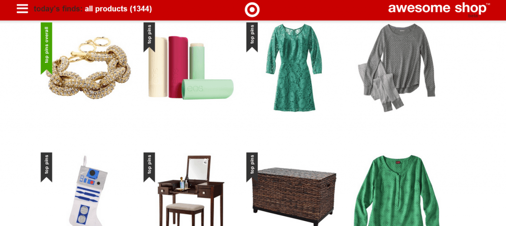 TargetAwesomeShop2 1024x459 Target Dabbles in Curated eCommerce with Awesome Shop