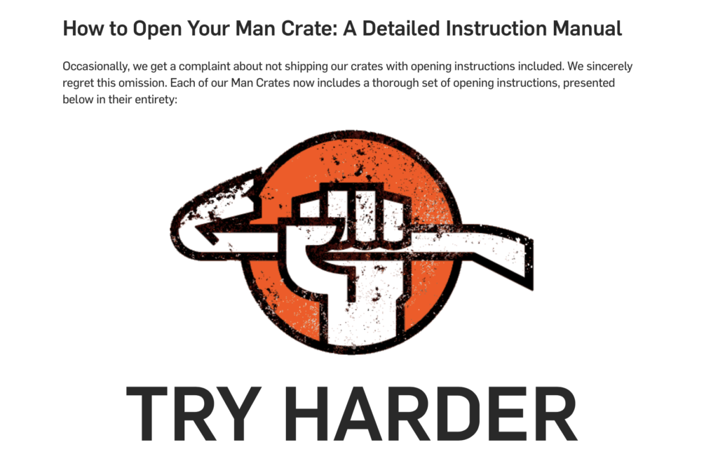 man crates help page