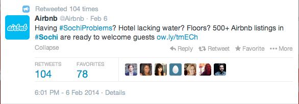 Screenshot 2014 02 12 14.40.14 How Molson, Airbnb, and American Apparel Scored Social Media Gold in Sochi