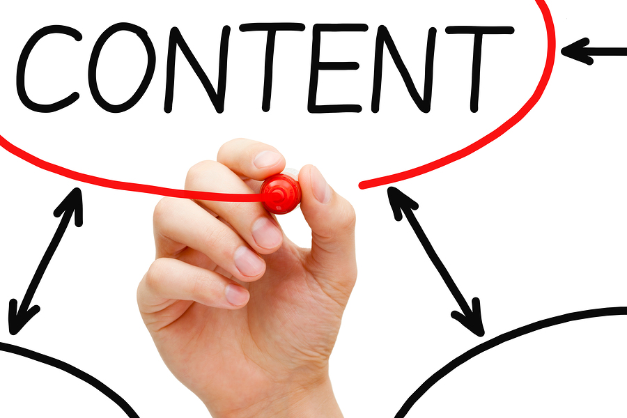 bigstock Hand Drawing Content Flow Char 41633221 The 5 C's of Effective Content Marketing