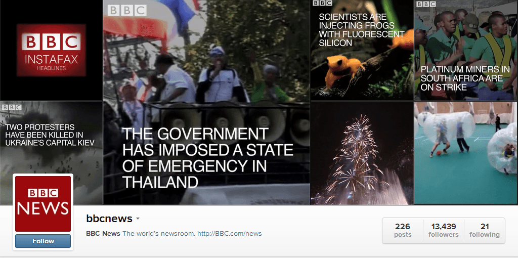 BBCInstafax1 2 Seven Tips For Jumpstarting Your Visual Storytelling Strategy