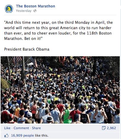 BostonMarathon1 Social Media Highlights From The Boston Marathon