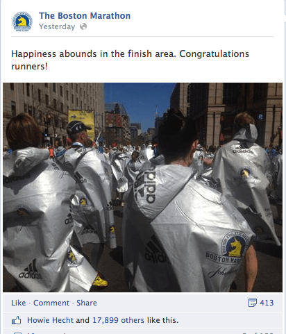 BostonMarathon4 Social Media Highlights From The Boston Marathon