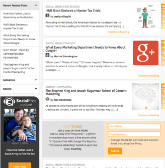 The new Convince and Convert blog index 8 Things Im Trying to Improve with This New Convince and Convert Website