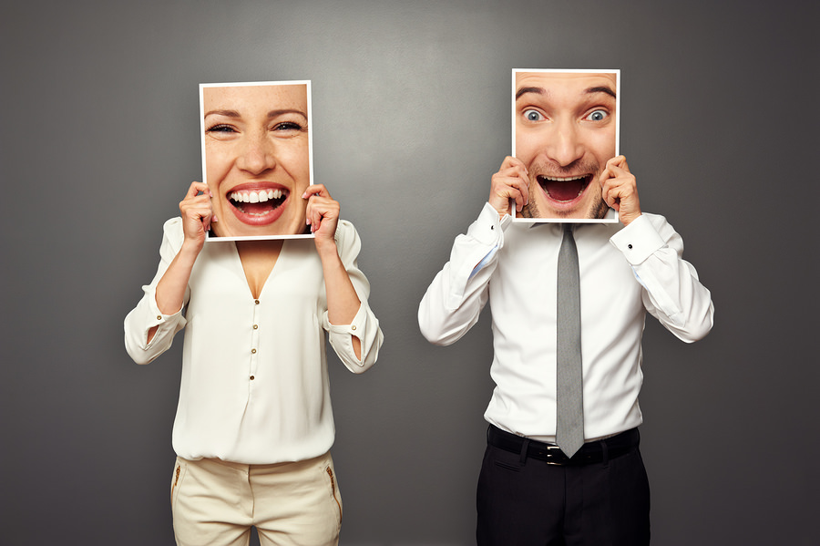 bigstock man and woman holding frames w 45029542 5 Ways to Connect with Your Audience Emotionally to Drive More Engagement