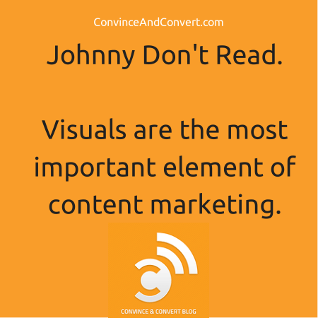 why visuals are the most important element of content marketing.
