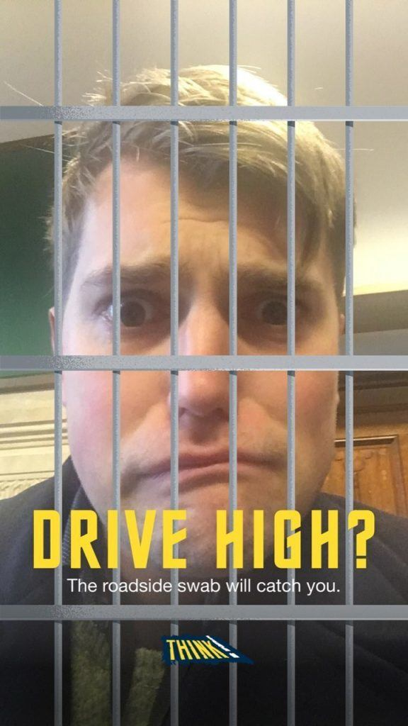 Drug Driving Snapchat campaign