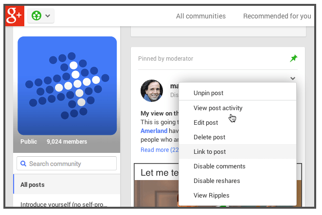 Screenshot 2014 05 14 13.20.48 10 Reasons Businesses Will Start Using Google+ Communities in 2014