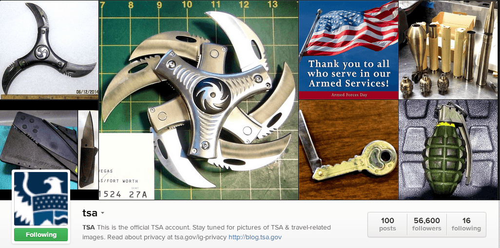 TSA Instagram1 A PSA From The TSA On Instagram: #TSACatch Shows Photos Of What Not To Pack
