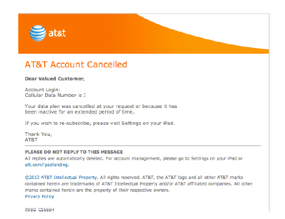 att_cancellation email