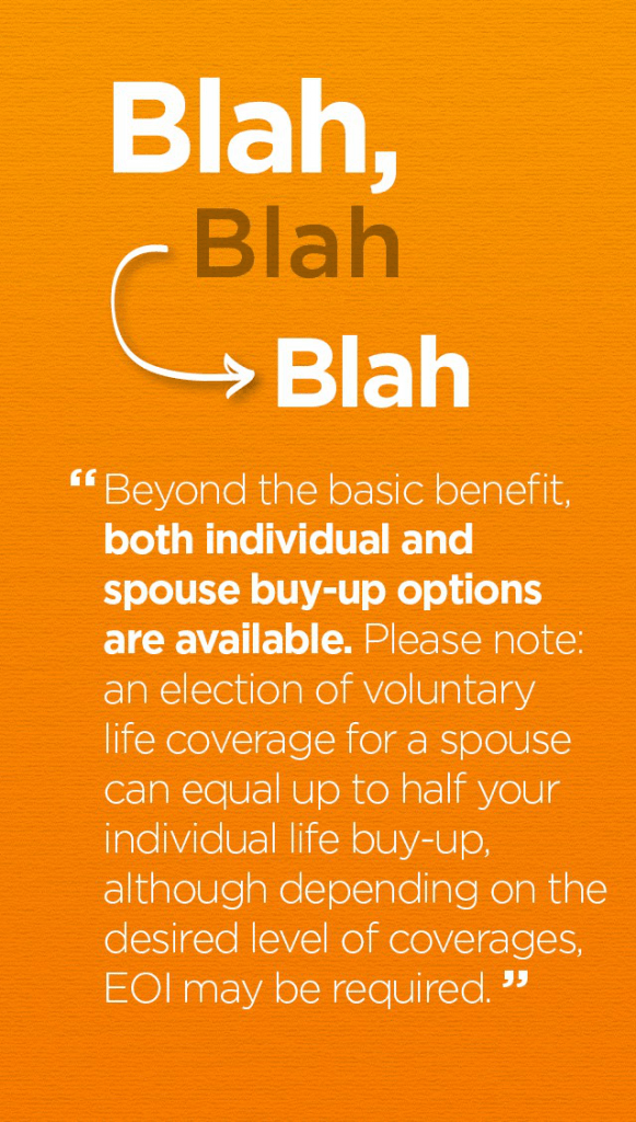 benefits blah1 581x1024 How to Speak Like a Human (and Why It Matters)