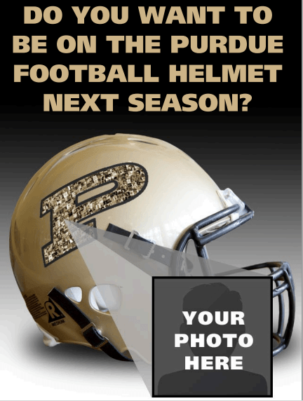 Purdue Image2 Purdue Football To Feature Student Superfan Images On Team Helmet