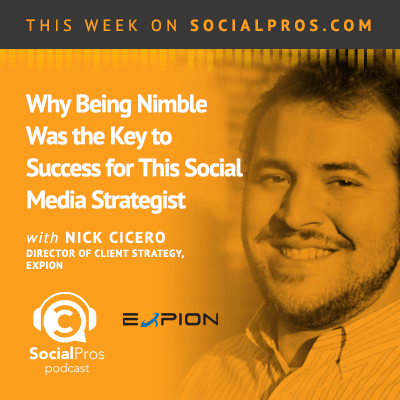 social pros nick cicero 3 In Social Media, the Only Guarantee is Change