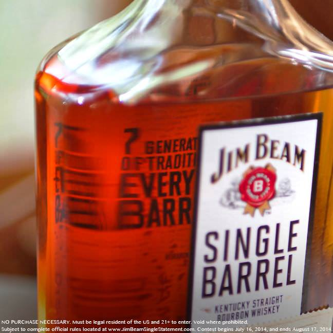 "JimBeam2 Jim Beam Invites Fans to Help Craft Bourbon History in New ""Single Barrel, Single Statement"" Contest"