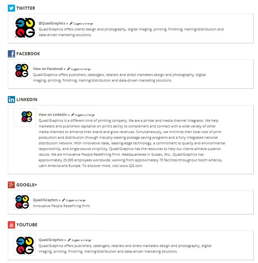 QuadGraphics social presence 10 Company and Product Branding Tips from Microsoft