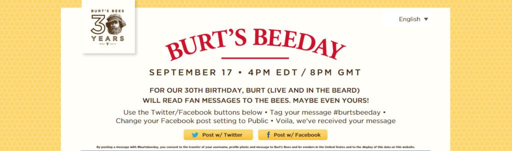 Beeday1 1024x302 Burt's Bees Turns To Social Media Community To Host Global Beeday Celebration