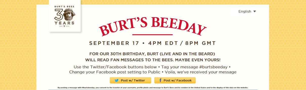 Burt's Bees Turns To Social Media Community To Host Global Beeday Celebration