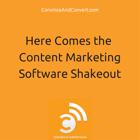 Here Comes the Content Marketing Shakeout