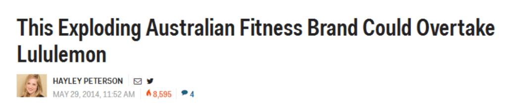Lorna Jane headline