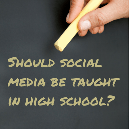 Should social media be taught in high
