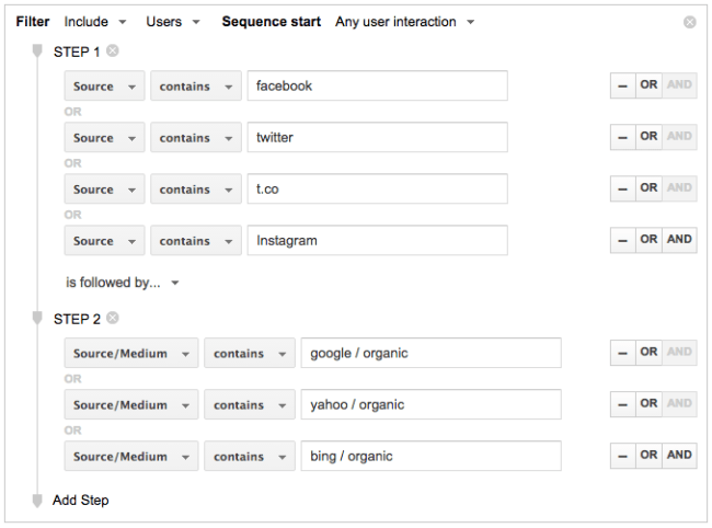 Google Analytics - Segment Audience