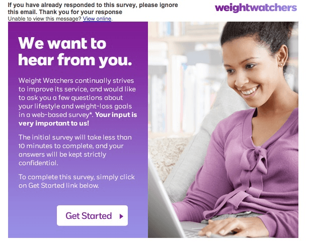 Survey - Weight Watchers