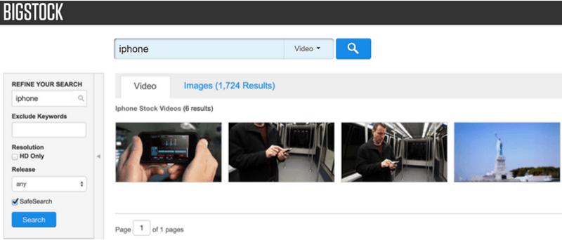 Visual Content Tools - BigStockPhoto