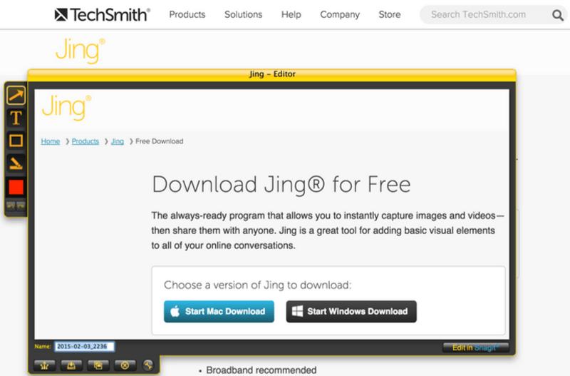 Visual Content Tools - Jing