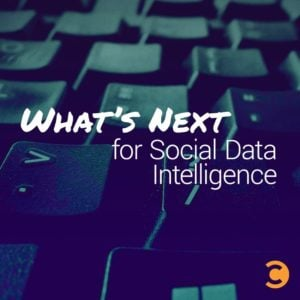 What's Next for Social Data Intelligence