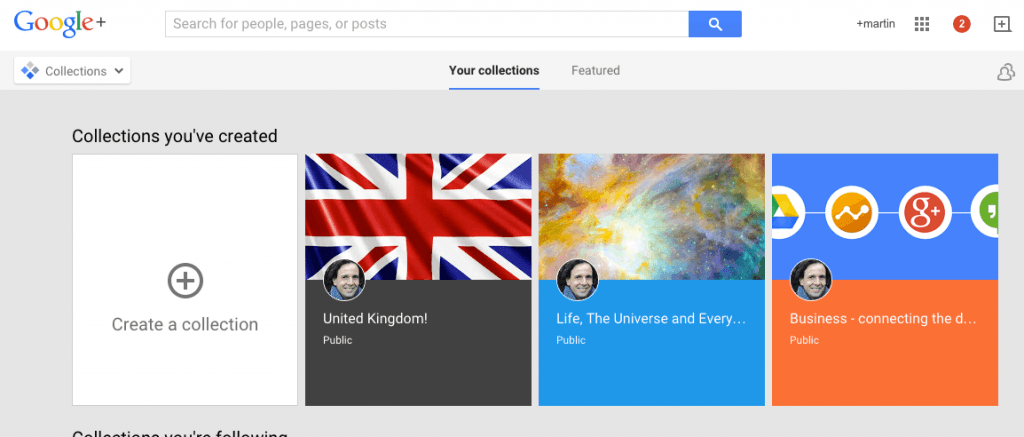 Google plus collections 1